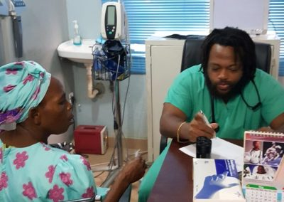 14 - Dr. Alleyne and Patient